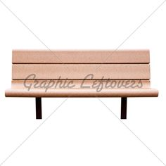 isolated park bench | Bench. Isolated, With Clipping Path · GL Stock Images
