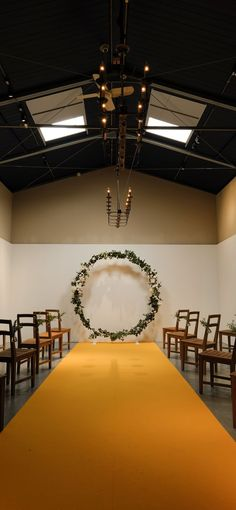 REWCLAMA wedding holds the warehouse wedding style. Warehouse Wedding, Weeding, Wedding Styles, Wedding Ceremony, Conference Room, Grass, Weed Control, Killing Weeds