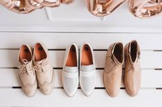 Shoes all lined up and ready to go. Which pair would you wear today?