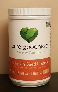 Pure Goodness Pumpkin Seed Protein is Paleo-Friendly AND Yummy!  Read all about Pure Goodness Pumpkin Seed Protein in this review by @bezzyblue  http://beauxbeautyblog.com/?p=2729  #mypuregoodness #pumpkinseedprotein #superfood