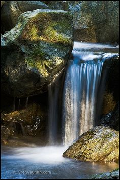 Mini Waterfall By Greg Vaughn Redwood Nature Trail, Siskiyou National Forest, Oregon