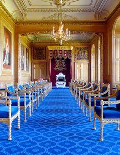 Gartner Throne Room at Windsor Castle, UK