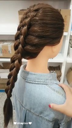 Long Hair Hairstyles For Girl Hairstyles Tutorials Compilation 2019 Part 139 French Braid Hairstyles, Fancy Hairstyles, Box Braids Hairstyles, Hairstyles For Round Faces, Trending Hairstyles, Girl Hairstyles, Medium Long Hair, Medium Hair Styles, Curly Hair Styles