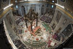 The opening Mass of The Extraordinary Synod of the Bishops in Saint Peter's Basilica, Vatican City