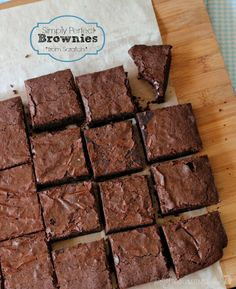 The Fudgiest, Gooiest Brownies, with the Deepest, Darkest, Most Intense Chocolate Flavor EVER!  From Scratch, Pantry Staples, Just One Bowl,...