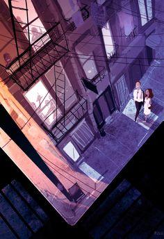 Ilustración Street corner