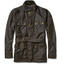 Belstaff - Waxed Cotton Jacket  Founded in the early 20th century, Belstaff was the first company to incorporate water-resistant waxed-cotton into outerwear. Its classic 'Roadmaster' jacket has become a sartorial staple, seen on the backs of adventurous men around the world. This lightweight dark brown version is ideal for drizzly days, whether you're traversing the globe or walking in the countryside.