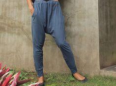 Ninja funky pants...Jersey cotton Blue MLXL 1412 by cocoricooo
