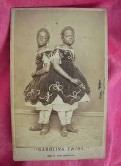 Conjoined twins. Look like Millie & Christine McCoy.