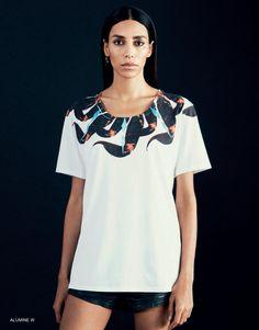 ALUMINE white t-shirt