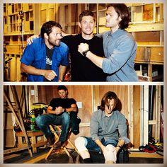 Behind the scenes - Supernatural Season 8