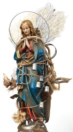 assemblage art by mike bennion -'mary, mary'