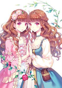 ゴージャスなプリンセスイラスト 双子座 美しいお姫アニメ