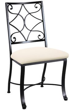 Camino Scroll Side Chair > Made in USA by Charleston Forge.