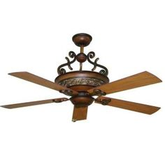Amisky 56 in. Cherry Patina Ceiling Fan-HG5626 at The Home Depot $259