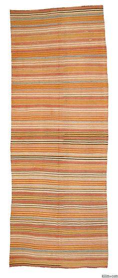 Vintage Fethiye Kilim K00003908 4.5x12