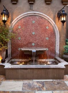 this would look so beautiful with colorful hand painted Spanish tiles