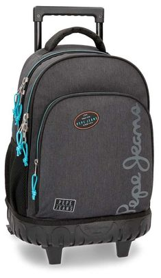 Pepe Jeans Teo Mochila Escolar, 43 cm, 28.9 litros, Gris: Amazon.es: Equipaje North Face Backpack, The North Face, Backpacks, Learning, Pockets, School Backpacks, Baggage, Gray, Products