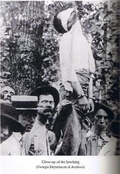 Lynching closeup, Georgia
