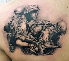 Dodge the rain of heavy machine gun fire with these top 101 best military tattoos. Explore memorial tribute designs and soldiers battling in war. Army Tattoos, Military Tattoos, Black Tattoos, Pin Up Tattoos, Tattoos For Guys, Tatoos, Tattoos For Women Small, Small Tattoos, Heavy Machine Gun