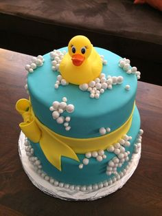 Bubble Ducky Baby Shower cake
