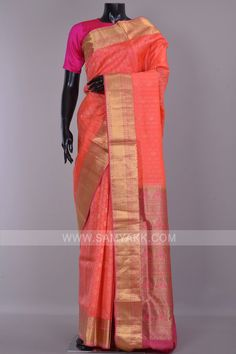 Handloom Weaving, South Indian Weddings, Silk Sarees Online, Pure Silk Sarees, Indian Sarees, Peach, Sari, Pure Products, Stuff To Buy