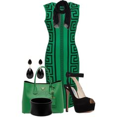 ZEAGOO SLEEVELESS DRESS by arjanadesign on Polyvore featuring moda, Prada, Forever New, Ermanno Scervino and Spring2015