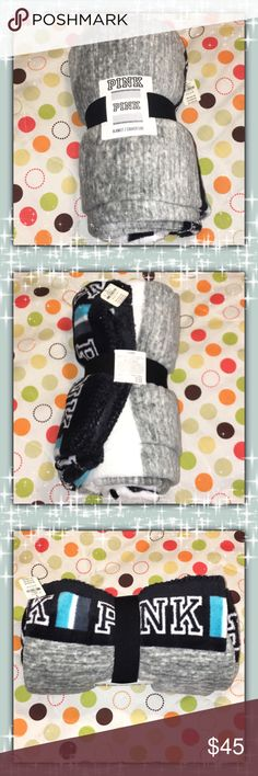 FLASH SALELAST PRICE DROP!!Victoria's Secret NWT! Awesome Christmas Gift Grey, White, Black And Blue  COMES WITH EXTRA GIFT  PINK Victoria's Secret Other