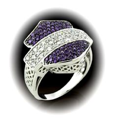 Harley-Davidson® Women's Silhouette Bar & Shield Cocktail Dress Ring. Purple and White Cubic Zirconia's. Harley Apparel, Harley Gear, Harley Boots, Harley Davidson Jewelry, Cocktail, Dress Rings, Biker Chick, Biker Style, Harley Davidson Motorcycles