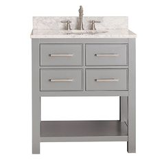 Brooks Chilled Gray 30 Inch Vanity Only Avanity Vanities Bathroom Vanities Bathroom Furnit