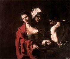 Caravaggio · Autoritratto come Giovanni Battista · 1609 ca · In Salomè con la testa del Battista · Palazzo Reale · Madrid
