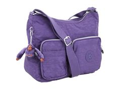 My new purse I got. Kipling U.S.A. Jasira Medium Top Zip Travel Bag Berry Purple