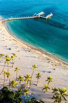 Places to visit in Hawaii. Waikiki Beach on Oahu. #Hawaii #Travel #waikikibeach