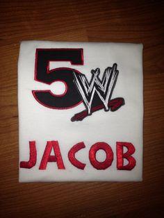 WWE wrestling birthday shirt by LillysBowtique on Etsy, $20.00