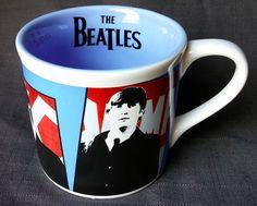 Beatles Coffee Mug John Lennon Paul McCartney George Harrison Ringo Starr 12 Oz