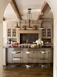 rustic kitchen backsplash ideas : Rustic Kitchen iIdeas for Modern House – Amazing Home Decor Kitchen Time, New Kitchen, Kitchen Dining, Kitchen Decor, Kitchen Rustic, Awesome Kitchen, Neutral Kitchen, Kitchen Colors, Kitchen Ideas