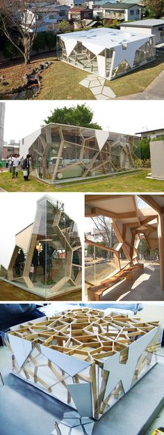 Sumika Pavilion / Toyo Ito / Square Plant / Parametric Structure / Wood and Glass Material Architecture Paramétrique, Amazing Architecture, Contemporary Architecture, Organic Architecture, Biomimicry Architecture, Contemporary Houses, Classical Architecture, Facade Design, Exterior Design