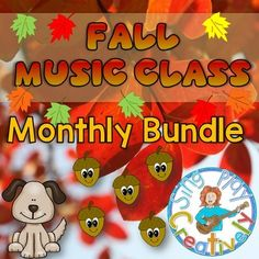 Music Education Teachers love Music Class Monthly Bundles because they are PACKED with materials to supplement or fill up your curriculum with GAMES, SONGS and ACTIVITIES! Something for everyone--Fall Music Class Monthly Bundle of Kodaly and Orff Lessons