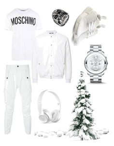 """""""Men snow"""" by noamtoledoo on Polyvore featuring Moschino, HL Heddie Lovu, Dsquared2, Movado, adidas Originals, West Coast Jewelry, Beats by Dr. Dre, men's fashion and menswear"""