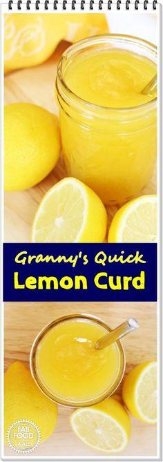 Granny's Quick Lemon Curd - @FabFood4All