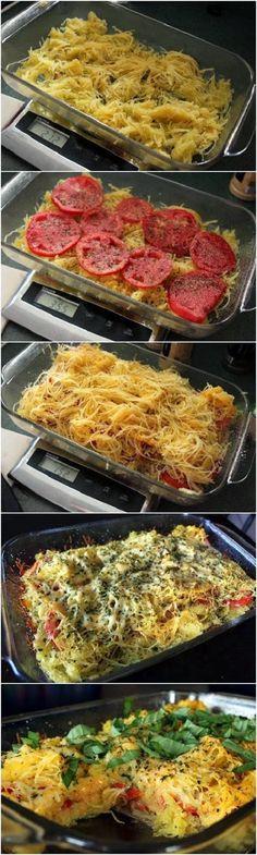 Super Stuffz: Spaghetti Squash and Tomato Bake