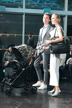 高級ベビーカーサイベックスCYBEXのファッションショーへMakiko Yoshida