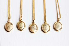 Oval Letter Necklace by diamentdesigns on Etsy, $16.00