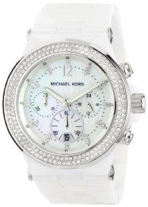 Michael Kors Watches Ladies Glitz Ceramic White Dial Watch #womens #fashion #watches