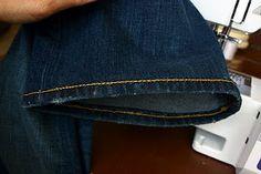 How to hem jeans with the original hem