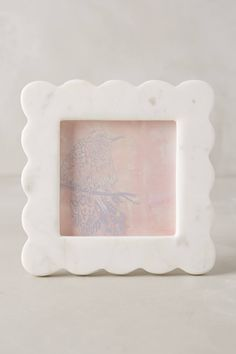 Scalloped Marble Frame #giftsforher