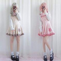7c61cfac665 Plaid Jumper Dress Romper Lolita Little Space Kawaii