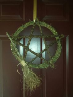 Pentagram & Besom almost finished..I'm adding some herbs, crystals, & other trinkets...