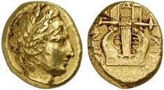 AV Stater. Greek Coins, Italy, Macedonia, Chalcidian League. Circa 432-348 BC. 7,81g. Unpublished. VF. RRR! Price realized 2011: 15.000 USD.