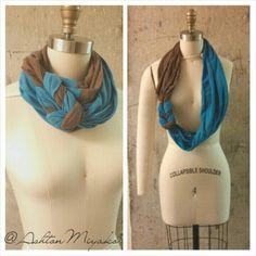 Infinity tshirt scarf.